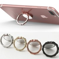 Wholesale car mirror mount - Phone Ring Magnetic Car Mount Holder with Mirror Mobile Phone Bracket Finger Ring Grip 360 degree Rotating Bow tie