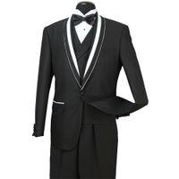 Wholesale royal blue groomsmen suit for sale - 2018 Designed Z Front Mens Formal Wedding Suits Groom Groomsmen Tuexdos Business Wear Shawl Lapel Pieces Jacket Vest Pants ST007