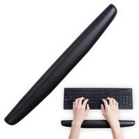 apoyos del teclado al por mayor-Teclado Muñequera Rest Pu Pu Cómodo antideslizante para computadora de oficina Laptop Alivio del dolor durante largas horas Trabajo Gaming