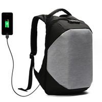 laptop taschen 15,6 zoll großhandel-Männer Frauen Reiserucksack 15,6 Zoll Anti-Diebstahl-Password Lock externe USB Lade wasserdicht Laptop Schultasche