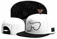 Wholesale mens brim hats - Cayler sons black white floral brim adjustable baseball snapback hats for men and women sport hip hop cotton mens womens sun cap