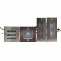 feux gradués étanches achat en gros de-2Pcs 3W / 2x3W 6W IP68 étanche LED Stair Light Step Light Encastré de lampe enfoncée lampe d'escalier intérieur / extérieur Step