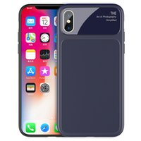 Wholesale dark camera for sale - Group buy For iPhone X Wireless Charging Soft TPU Back Case Cover with Glass All inclusive Camera Protection Anti Fingerprints Anti Scratch New