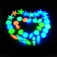 Wholesale aquarium wholesalers - 100Pcs  Lot Multi-color Aquarium Ornaments Luminous Sea Shells Glow In The Dark Artificial Pebbles Stones Garden Decoration