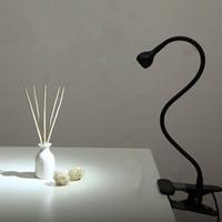 lâmpada de mesa led branco quente venda por atacado-Lâmpada de Mesa LED com Clipe 1 W Flexível LED Lâmpada de Leitura USB Fonte de Alimentação LEVOU Livro Tablet Lâmpada Quente Branco / Branco Luz Clamp