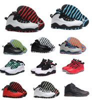Wholesale Bulls Training - 2018 10 X mans Basketball Shoes Bulls OVO Over Broadway Chicago Bobcats Sports Shoes Training Boots Mens Athletic Sneakers US 8-13