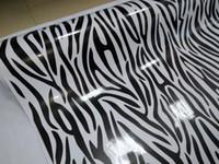 freie körpermalerei großhandel-Beeindruckendes Zebra-Camouflage-Vinyl für Autoverpackung mit Luftblase Frei gedruckt / GEMALTE Camouflage Car Wrapping Aufkleber 1,52x10m / 20m / 30m Rolle