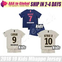 6167ebc86 football kits NZ - kids Neymar jersey 2019 children Mbappe football set  Cavani Verratti Di Maria