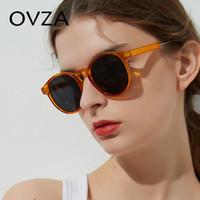 Wholesale sunglasses mujer resale online - OVZA Retro Women Sunglasses Transparent Round Sunglasses Men Vintage Circle Eyeglasses Brand Classic lentes de sol mujer S1090