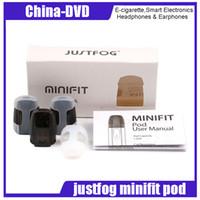 elektronik tank kitleri toptan satış-Otantik JUSTFOG Minifit Pod 1.5 ml Tank Kapasitesi 1.6 ohm Bobin Minifit Kiti Elektronik Sigara Atomizer için Dahili