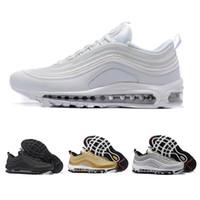 separation shoes a7e1e 2c4df nike air max airmax 97 97 OG Tripel Blanc Métallique Or Argent Bullet  Meilleure qualité BLANC 3 M Premium Chaussures de Course avec Boîte Hommes  Femmes ...