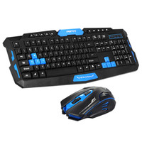 Wholesale Gaming Keyboard Mouse Combo - 2.4GHz Wireless Gaming Keyboard Mouse Combo 19 Key Anti-ghosting Adjustable DPI USB Receiver Adapter Mouse Mat for DesktopLaptop