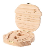 Wholesale wooden girl toys for sale - Wooden Deciduous Tooth Box Organizer Baby Boy Girl Foetal Hair Umbilical Cord Collection Storage Boxes Creative rw bb