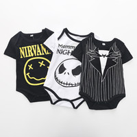 Wholesale Baby Personalities - INS hot Style new 100% cotton Personality monster print romper baby girl boy summer short sleeve soft romper clothing