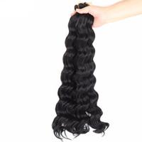 weave de cabelo sintético ombre venda por atacado-Mtmei onda profunda cabelo crochet cabelo sintético weave ombre trança tranças africanas profundas encaracoladas tranças de crochê extensão do cabelo