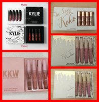 Wholesale Sexy Hot Painting - kylie vacation edition KKW IN LOVE KOKO Liquid Lipstick Hot Sale Sexy 4 Colors Lip Paint Matte Lipstick Waterproof Long Lasting Lip Gloss