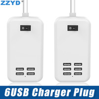 Wholesale eu usb charger 4a online – ZZYD USB Charger Plug US EU Plug V A Power Adapter for iPhone Samsung with Retail Package