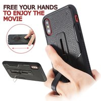 Wholesale Shock Rings - Adjustable Ring Rubber Holder Alloy kickstand Silicone Proof Shock Phone Cover Case For iphone X 8 7 6s 6 Plus Samsung S8 Plus J710 Opp bag