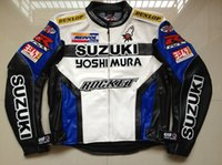 Wholesale motorbike protective gear for sale - Group buy Men PU jacket professional racing jacket motorcycle motocross motorbike waterproof leather with protective gear