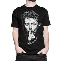 punk metal camiseta al por mayor-David Bowie Music T-Shirt Hombres Punk Rock Metal Tee Hombres Camiseta Tops Short Sleeve Cotton Fitness T-Shirts