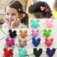 çocuklar için saç pençeleri toptan satış-10 Adet Sevimli Küçük Karikatür Saç Claws Şapkalar Mickey Tokalar Çocuklar Saç Klip Hairgrips Headbands Küçük Kızlar Saç Aksesuarları