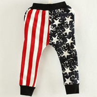 Wholesale flag harem trousers for sale - Brand New Kids Harem Pants Rushed Summer Flag Patterns Boys Children Trousers Korean Version Of The Spring