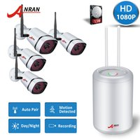 Wholesale 4pcs wireless ip camera online - NEW ANRANPlug and Play P2P CCTV Wireless Security System MP WiFi IP Cameras CH P NVR Indoor Outdoor Day Night Hard Disk