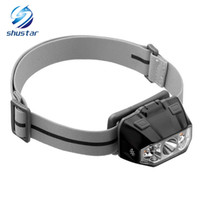 Wholesale best headlights - LED Headlamp Flashlight with Spot Flood and Red Lights Best LED Headlight for Outdoor Running Camping Fishing Hunting Use 3xAAA