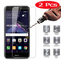huawei p8 lite 9h toptan satış-Huawei P8 Lite için 2 Adet MRGO Temperli Cam 2017 Ekran Koruyucu Telefon Filmi için Huawei P8 Lite 2017 Temperli Cam