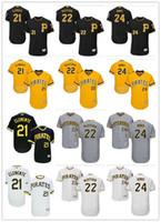 Wholesale andrew mccutchen jersey - custom Men's Women Youth Majestic Pirates Jersey #24 Barry Bonds 8 Willie Stargell 22 Andrew McCutchen 21 Roberto Clemente Baseball Jerseys