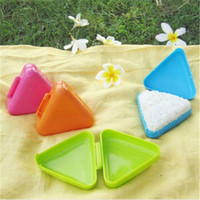 Wholesale rice balls resale online - Triangle Sushi Mold New Original Rice Ball Nice Press Maker Kitchen Tool Easy to carry