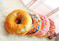 almohadillas dulces al por mayor-Donut Pillow Cute Soft Cojín Decorativo Soft Plush Pillow Asiento de Relleno Cojín Dulce Alimentos Cojín