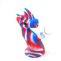 tubulação de fumo do dragão venda por atacado-6.3 '' dragão forma blunt bubbler cachimbo de água portátil tubulação de água borbulhador conjunto de vidro 14mm conjunta queimador de óleo da tubulação de água de vidro pip