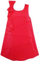 festa ensolarada venda por atacado-Sunny Fashion Girls Dress Jumpers Shift Dress Blocks Design O-pescoço 2018 Verão Princesa Vestidos de Festa de Casamento Roupas Tamanho 7-14