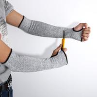 ingrosso taglio di sicurezza guanti-NUOVO Sicurezza Grey Cut termoresistente Maniche braccio di protezione Protezione Armband Guanti sul posto di lavoro Protezione Sicurezza A Pair