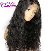 8a peluca de pelo peruano al por mayor-8A Full Lace / Front Lace pelucas de cabello humano Peruvian Glueless pelucas llenas del cordón brasileño de la Virgen del pelo onda del cuerpo humano pelucas
