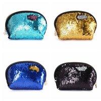 pailletten kosmetiktasche großhandel-Pailletten Handtaschen Frauen Tragbare Reise Kosmetiktasche Make-Up Fall Meerjungfrau Pailletten Abendtasche Für Mädchen Hochzeit Handtasche 20 stücke OOA4647