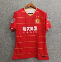 Wholesale z home - Free shipping football shirt 2018 Guangzhou Evergrande jersey home soccer jerseys 18 19 PAULINHO GOULART ZHENG Z. top quality