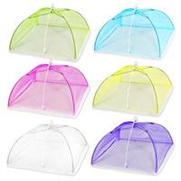 yukarı çadırlar toptan satış-Yeni Çok Renkli Pop Up Mesh Ekran Gıda Kapak Çadır Şemsiye Katlanır Açık Piknik Gıdalar Meshes Kapakları Yüksek Kalite 2 99hs aa