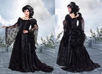 vestido bola azul victorian venda por atacado-Rosas Escuras Bustle bola vestido Vestidos de baile de finalistas Couture Dark Fantasy medieval renascimento vitoriano fusão gótico vestido de noite masquerade espartilho