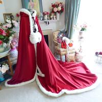 Wholesale champagne fur bolero for sale - Group buy 2019 New Wedding Bridal Cloaks Fur Winter Wedding Capes Wicca Robe Warm Coats Bride Jackets New Year Christmas Events Bolero Wedding