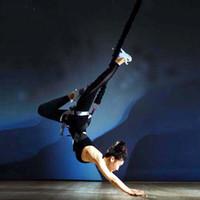 entrenamiento resistencia equipo de entrenamiento al por mayor-Equipo de ejercicio de yoga antigravedad 4D Bungee Dance Training Entrenador Gym Fitness Pro Bandas de resistencia