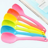Wholesale cute ice cream accessories for sale - Bright Color Melamine Coffee Spoons Cute Ice Cream Scoops Non Toxic Dinnerware Sh473 Kitchen Tools Accessories
