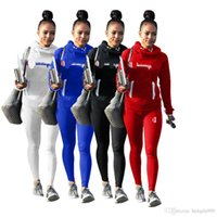 Wholesale wholesale camping clothing online - Women Fashion Tracksuit Long Sleeve Hooded Tops Pants Piece Woman Set Outfit Womens Sweat Suits Sweatsuits Clothes Clothing WG2511