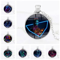 Wholesale thor toys resale online - Avengers Infinity War Time Gemstone Necklace Iron Man Captain America Spiderman Thor Thanos Alloy Necklace Toys Novelty Items OOA5040