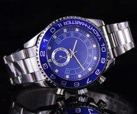 ingrosso oro nero piccolo-relogio masculino mens orologi Luxury fashion designer di moda calendario quadrante nero Bracciale oro chiusura chiusura Master Male 2016 regali coppie