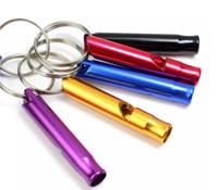 Wholesale Free Product Keys - 2018 Mini Aluminum Whistle Dogs For Training With Keychain Key Ring 4000Pcs Free Shipping