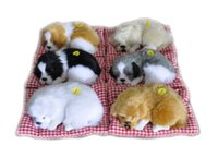 Wholesale toy sleeping dogs - Simulation Animal Stuffed Plush Cute Sleeping Dogs Toy with Sound Kids Stuffed Toy Simulation Dogs for car