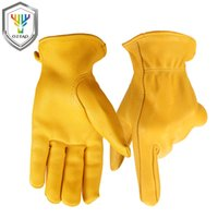 Wholesale revit xl - OZERO Men's Motorcycle Gloves Deerskin Leather Ski Warm Anti Cold Anti Driver Moto Hiking Hunting Revit Cycling Bike Gloves 8003