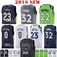 Wholesale butler jerseys - 2018 New Men's 23 Jimmy Butler Anthony Davis 32 Karl-Anthony Towns Jersey 22 Andrew Wiggins 0 DeMarcus Cousins Basketball Jerseys The City